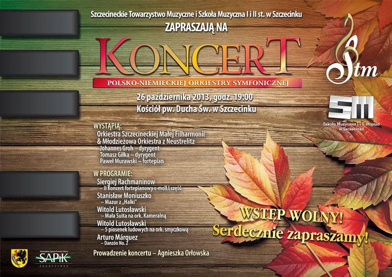 Symfoniczny Koncert Polsko Niemiecki Zaproszenie Szczecinek
