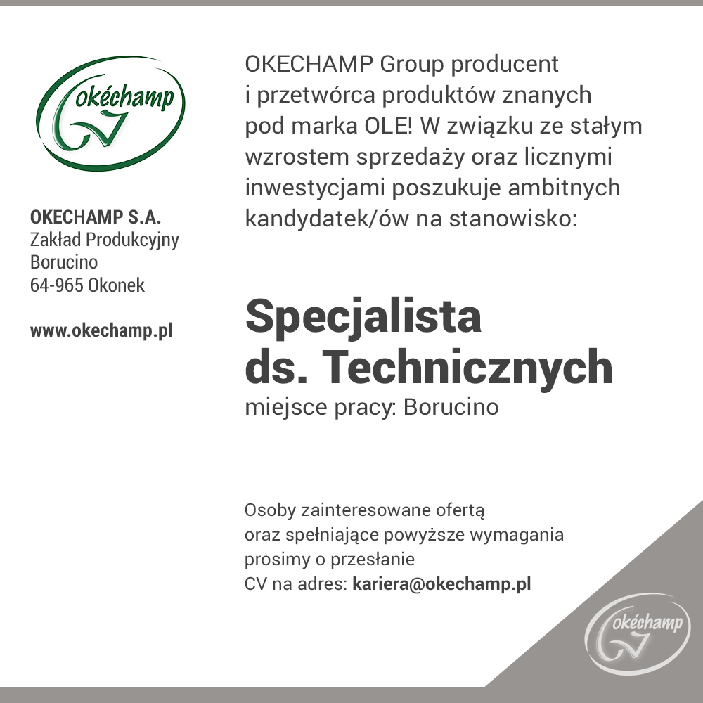 OKECHAMP Group to polsko – holenderska Grupa...